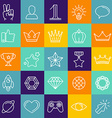 set of linear game icons vector image