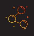 share icon design vector image