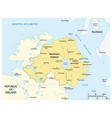 simple map northern ireland vector image vector image