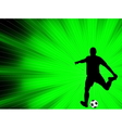 soccer player - abstract background vector image vector image