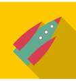 Spaceship icon flat style vector image vector image