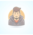 Stylish man with haircut icon vector image vector image