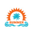summer vacation - palm sun vector image vector image