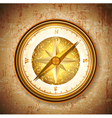 Vintage antique golden compass vector image