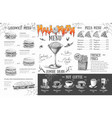 vintage halloween menu design restaurant menu vector image
