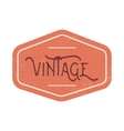 Vintage red label vector image vector image