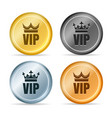 vip member emblems vector image vector image