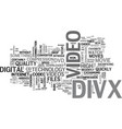 what is divx text word cloud concept vector image vector image