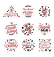 winter holiday sale labels poster on white vector image vector image