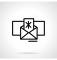 Winter mail icon black simple line style vector image vector image