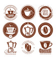 vintage coffee labels and vector image