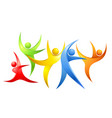 abstract colorful dancing figures vector image