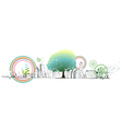 Abstract Green Cityscape vector image