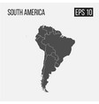 map of south america with regions eps 10 vector image