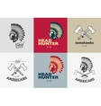 Set of american indian badges vector image