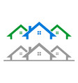 simple house residential vector image