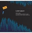 Black and blue volume background vector image