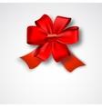 Red Ribbon Satin Bow vector image