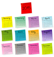2015 calendar made of colored sheets of paper vector image vector image