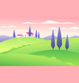 a summer flat style rural vector image