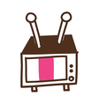 A television vector image vector image