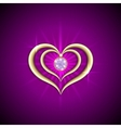 abstract bright purple background with golden vector image vector image