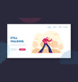 aged woman sports activity website landing page vector image vector image