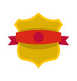 badge classic icon flat style vector image