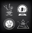 Barber shop labels icons vector image vector image