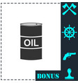 barrel oil icon flat vector image vector image