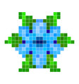 blue pixel flower vector image