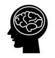 brain head - brainstorm in mind icon vector image