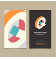 Business card letter Q