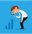 businessman analyze increase profit vector image