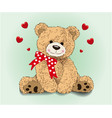 caricature cute bear vector image vector image