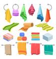 cartoon towels set vector image vector image