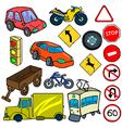 Cartoonish traffic vector image vector image