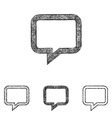 Chat icon set - sketch line art vector image vector image