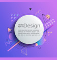 circle frame on gradient background vector image vector image