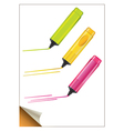 colorful markers vector image vector image