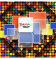 Colorful Square Element On Stripes Background vector image vector image