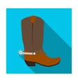 Cowboy boots icon in flat style isolated on white vector image vector image