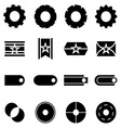 Create web icons on white background vector image vector image
