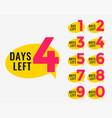 days left promotional banner for marketing vector image vector image