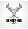 Deer head Design Element in Vintage Style vector image