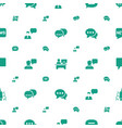 discussion icons pattern seamless white background vector image vector image