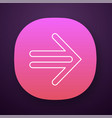 double-lined arrow app icon indicating sign vector image