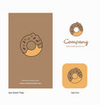 doughnut company logo app icon and splash page vector image vector image