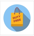 Duty-free bag flat icon vector image vector image