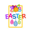 easter background holiday greeting card decoration vector image